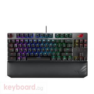 Геймърска механична клавиатура ASUS ROG Strix Scope TKL Deluxe RGB Red switch
