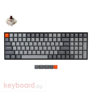Геймърска Механична клавиатура Keychron K4 Hot-Swappable Full-Size Gateron Brown Switch White LED Gateron Brown Switch ABS