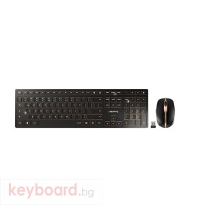 Kомплект клавиатура с мишка CHERRY DW 9000 SLIM, Безжичен, Черен/Бронз