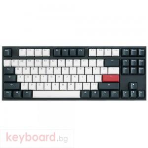 Геймърскa механична клавиатура Ducky One 2 Tuxedo TKL, Cherry MX Silent Red