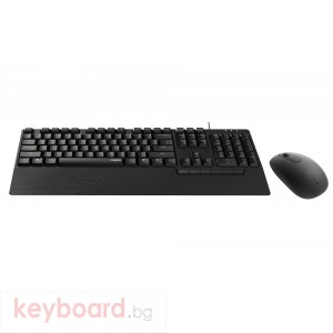 Комплект клавиатура и мишка RAPOO NX2000, Черен
