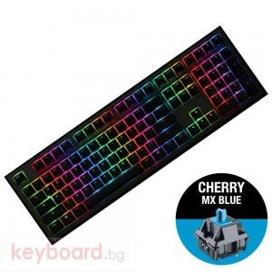Геймърскa механична клавиатура Ducky Shine 7 Gunmetal Gray RGB, Cherry MX Blue