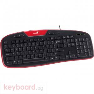 Клавиатура GENIUS KB-M205 мултимедийна, USB