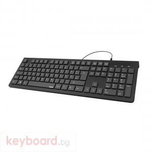 Клавиатура HAMA KC-200, с кабел, USB, Черна
