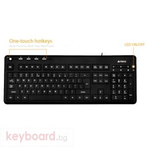 Клавиатура A4 TECH KD-126 USB с LED подсветка