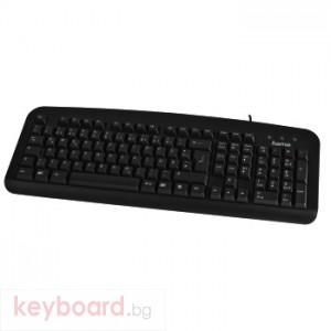Клавиатура HAMA стандартна K202 черна, PS/2