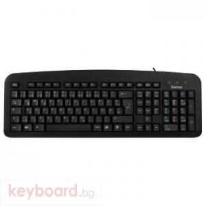 Клавиатура HAMA Стандартна клавиатура К212 черна, USB, ХАМА