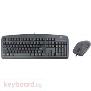 Комплект A4 TECH KM-72620 клавиатура и мишка, черен, PS/2