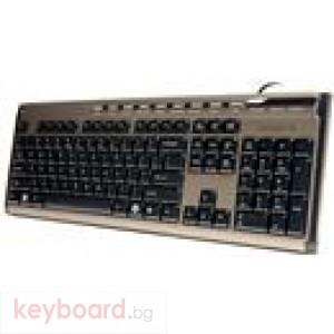 Клавиатура GIGABYTE Мултимедийна+мишка KM6150, черна, USB, slim