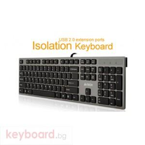 Клавиатура A4 TECH KV-300H,Клавиатура X-струк.,2 USB порт