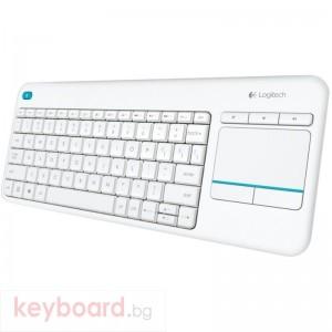 Клавиатура LOGITECH K400 Plus бяла безжична