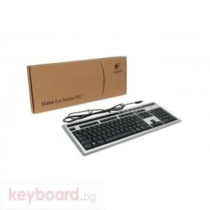 Клавиатура Logitech UltraX Media keyboard, USB, Black and Silver, ОЕМ BG Layout