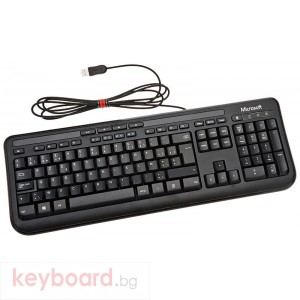 Клавиатура MICROSOFT Wired Keyboard 600 Black, DE