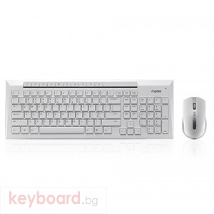 Комплект RAPOO 8200P Безжичен бял
