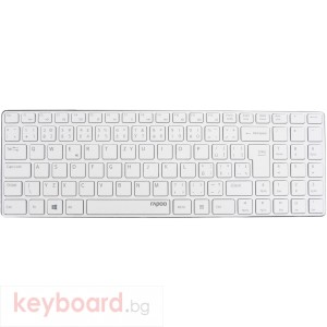Клавиатура RAPOO E9100P 5G Безжична Ultra Slim Бяла