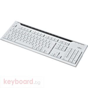 Клавиатура FUJITSU Мултимедийна KB400 бяла тънка, USB,Фуджицу