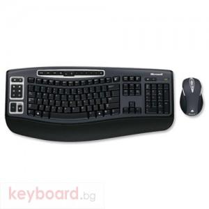 Комплект Microsoft 5000 Wireless Desktop Ultra-thin Keyboard and High-definition Optical Mouse Black Ref (69C-00006)