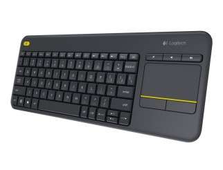 Клавиатура LOGITECH Wireless Touch Keyboard K400 Plus черен