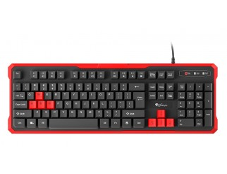 Клавиатура GENESIS Gaming Keyboard Rhod 110 Red Us Layout