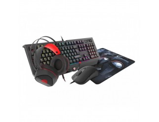 Клавиатура GENESIS Gaming Combo Set 4In1 Cobalt 330 RGB Keyboard + Mouse + Headphones + Mousepad