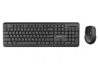 Клавиатура TRUST ODY Wireless Keyboard & Mouse BG Layout