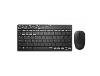 Комплект клавиатура и мишка RAPOO 8000M Multi mode, Bluetooth &2.4Ghz, Безжичен, Черен