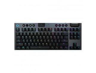 Безжична геймърска механична клавиатура Logitech, G915 TKL Black Lightsync RGB, Clicky суичове