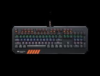 Геймърска клавиатура CANYON Wired, USB, QWERTY, Английски