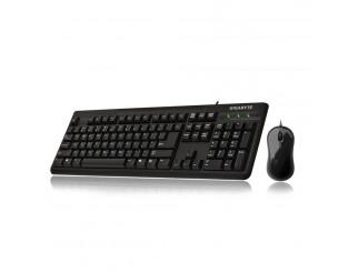 Мултимедийна клавиатура и мишка GIGABYTE GK-KM3100, USB 2.0, Черен