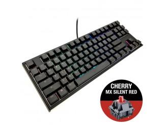 Геймърскa механична клавиатура Ducky One 2 RGB TKL, Cherry MX Silent Red