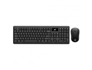 Комплект мишка и клавиатура No brand 1600, Безжични, Черен