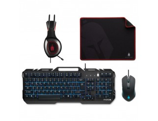 Геймърски комплект Spartan Gear Hydra II - клавиатура, мишка, пад и слушалки
