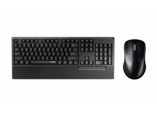 Комплект клавиатура и мишка RAPOO X1960, Безжичен, Черен