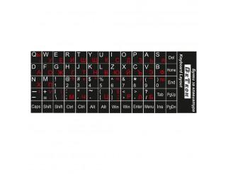 Букви за клавиатура DeTech,Кирилица и латиница, Черен