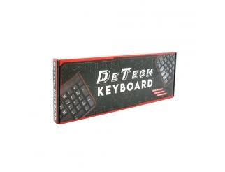 Клавиатура DeTech DE6083, PS2, Кирилизирана, Черен