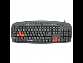 Мултимедийна клавиатура DeTech DE6087, USB, Кирилизирана, Черен