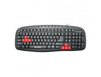 Мултимедийна клавиатура DeTech DE6090, USB, Черен