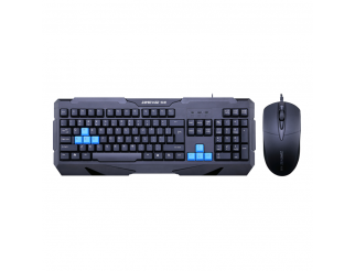Гейминг комплект мишка и клавиатура, ZornWee Resident Evil, Черен