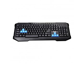 Геймърска клавиатура, ZornWee X6 Soldier,Мултимедийна, USB, Черен