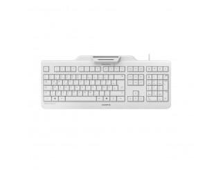 Жична клавиатура CHERRY SECURE BOARD 1.0, Четец за карти, Сива