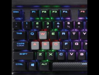 Клавиатура CORSAIR K65 LUX RGB, Black, Ten-Keyless, Cherry MX Red