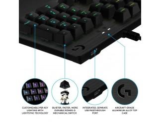 Геймърска механична клавиатура Logitech, G513 Carbon RGB, Romer-G суичове